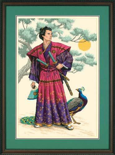 Вышивка самурай дименсионс