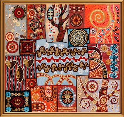Узоры вышивки на ткани